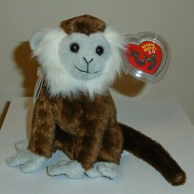Ty 2.0 Beanie Baby - JUNGLE the Monkey (7 Inch) MINT with MINT TAGS