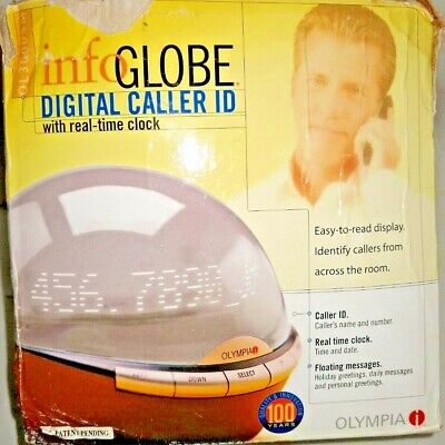 NEW Olympia Info Globe Digital Caller ID with Real-Time Clock OL3000   Open Box