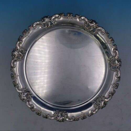 Grande Baroque By Wallace Sterling Silver Serving Tray Plate #6621 (#4125)