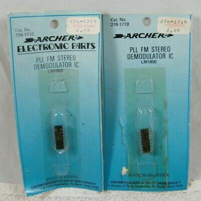 2 Archer 276-1719 Pll Fm Stereo Demodulator Ic Lm 1800