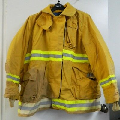 Fyrepel Firefighter Turnout Gear Bunker Padded Jacket Yellow Size X-large 8