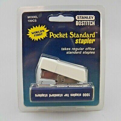 Vtg Stanley Bostitch Mini Standard Stapler W 1000 Staples Model 100cs White Nos