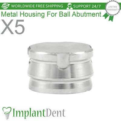 5 Metal Cap Insert For Ball Abutment Housing Abutment Dental Implant