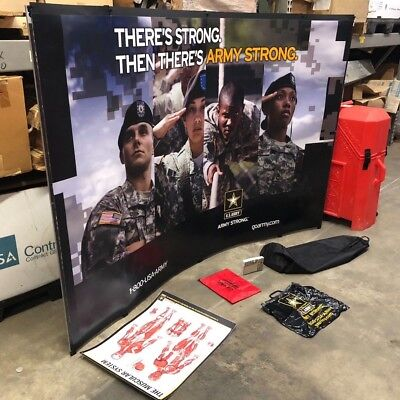 Tabletop Trade Show Booths - Nomadic Instand TableTop Booth Display 5' x 5' Trade Show ARMY STRONG