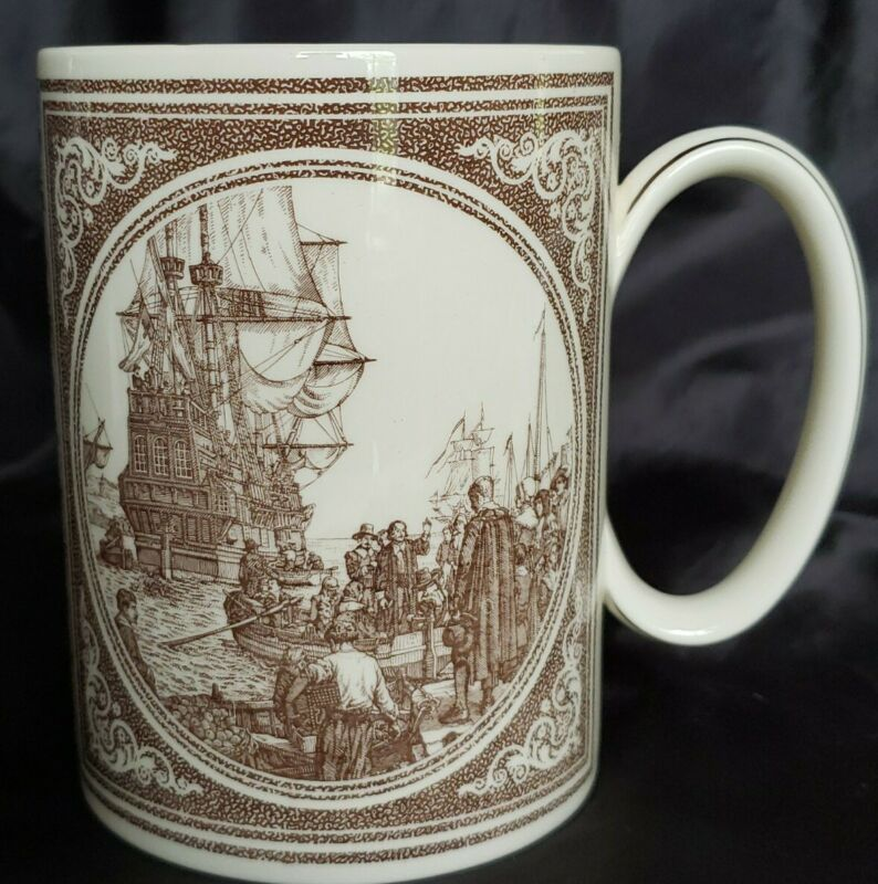 Wedgwood  Commemorative Mug  The Mayflower Mug Great Condition 5""