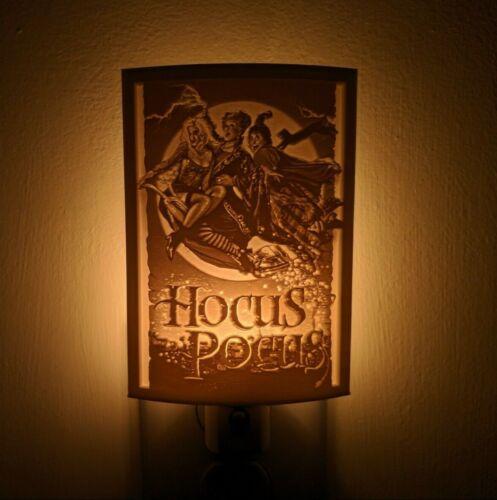Hocus Pocus Disney Halloween Lithophane Incandescent Night Light