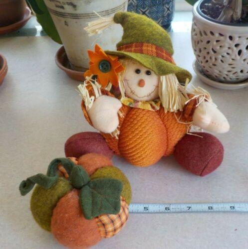 Scarecrow Doll Fall Autumn Decoration Halloween Thanksgiving Boy Pumpkin