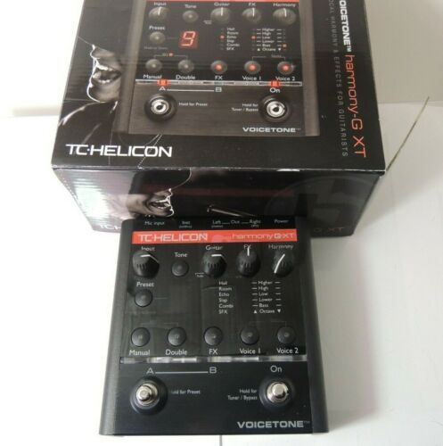 TC Helicon Voicetone Harmony G XT Vocal Effects Processor Pedal w/Adapter & Box