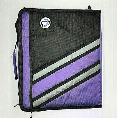 Case-it Z-binder Two-in-one 1.5-inch D-ring Zipper Binders Purple Z-176