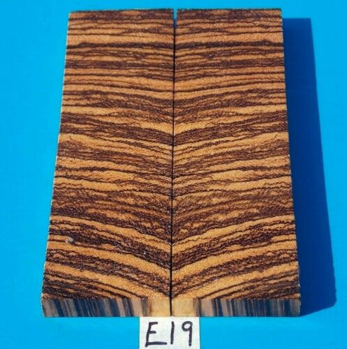"""1 PAIR ZEBRAWOOD KNIFE SCALES~KNIFE GRIPS 3/8"""" X 1-1/2"""" X 5""""~EXOTIC WOOD~LUMBER"""