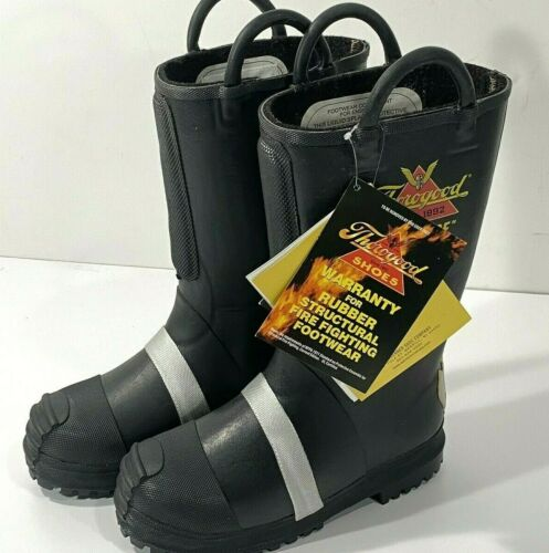 "THOROGOOD WOMENS HELLFIRE 507-6003 14"" FELT INSULATED RUBBER BUNKER BOOT 10 M"