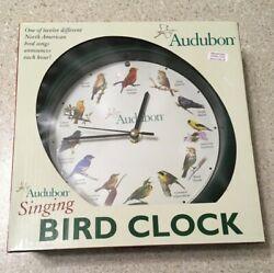 Audubon SINGING BIRD CLOCK w/ Light Sensor Wild Birds Songs 8 - Mark Feldstein