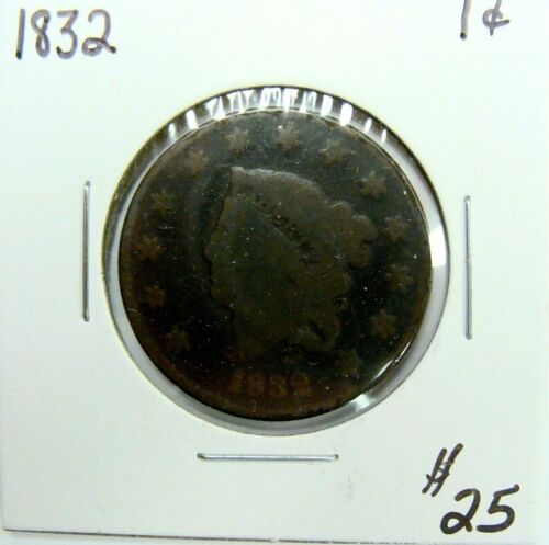 1832 CLASSIC HEAD LARGE CENT NICE TYPE COIN