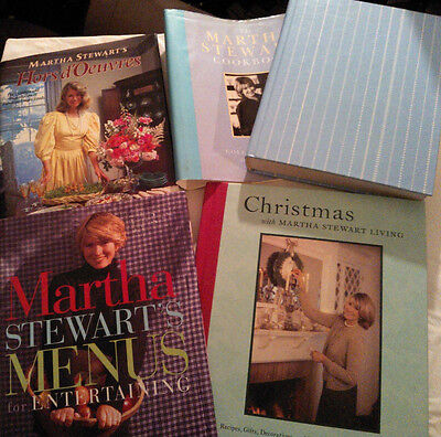 Martha Stewart's Hors d'Oeuvres+Menus+Cookbook Collected Recipes+Christmas(4Bks) ()