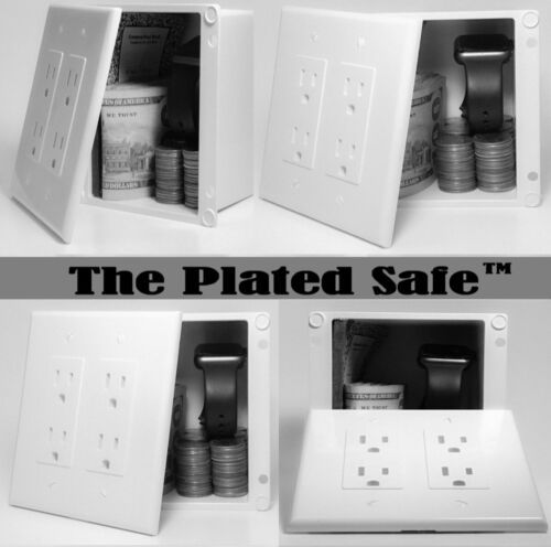 The Plated Safe™ - A Hidden Wall Safe, Disguised as a Wall Outlet