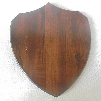 VINTAGE WOODEN DISPLAY STAND - SHIELD / PLINTH - 6