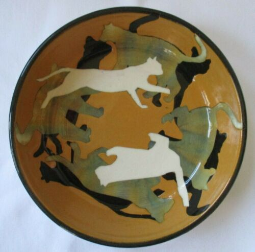 WESTCOTE BELL POTTERY CAT SILHOUETTE BOWL