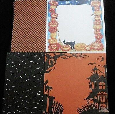 Halloween Design Paper (NRN Designs  HALLOWEEN Scrapbook Paper LOT  12x12   16)