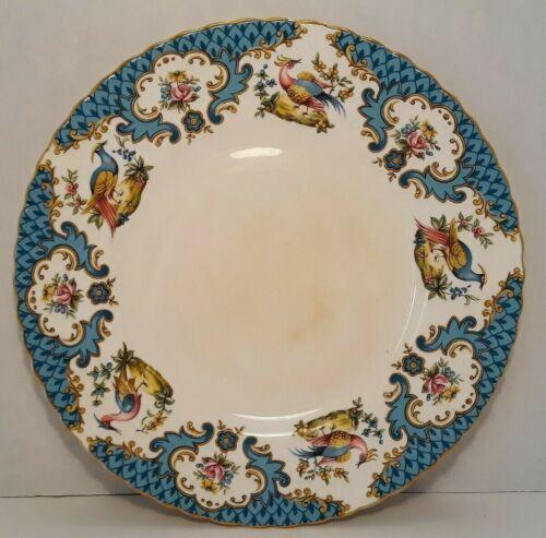"Vintage Queens Rosina China HoHo Blue, Chelsea Bird of Paradise Plate, 8"""