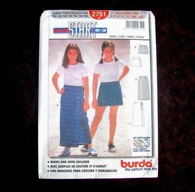 Burda Pattern 2751 Junior Miss Skirt 2 Lengths Size 8 to 14 Seams Hems Included