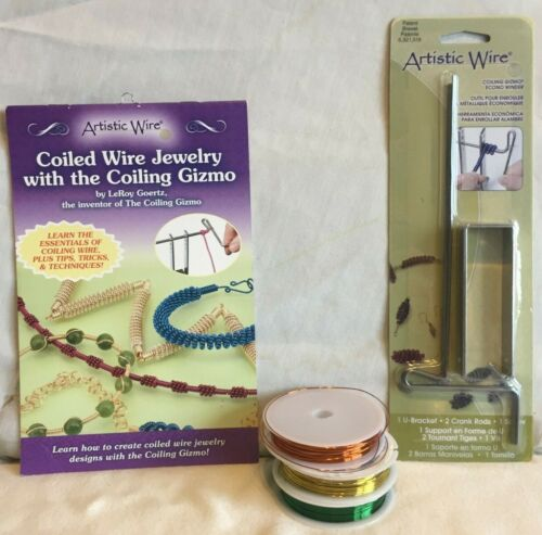 Artistic Wire Coiled Wire Jewelry with The Coiling Gizmo book wrapping tool
