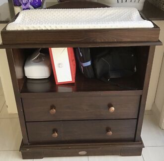 Boori Country Collection Change Table With Drawers