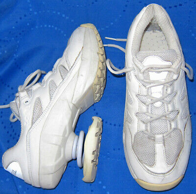 Z-Coil Freedom Classic Z Coil White Leather Mesh Comfort Shoes  Women's 8 M