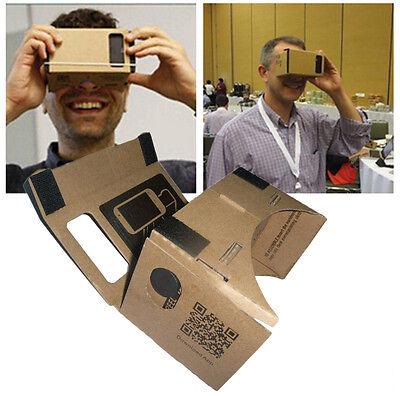 Cardboard Quality 3d VR Virtual Reality Glasses For iPHone Google Nexus Samsung!