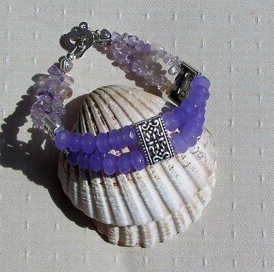 Alexandrite & Ametrine Crystal Gemstone Beaded Bracelet
