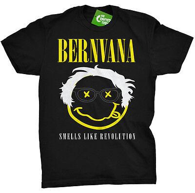 Grunge Revolution - Bernie Sanders Grunge Bernvana T Shirt Tee Smells Like Revolution 2016