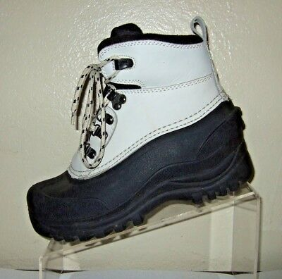 (Itasca Thermolite Insulated Black & White Leather Duck Boots Women's Size 6)
