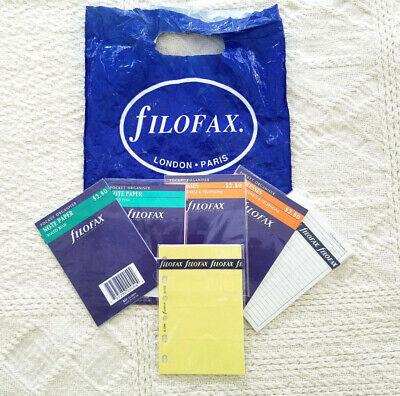 Filofax 6 Hole Pocket Organizer Refills Addresses Phone Notes Sticky Notes Nip