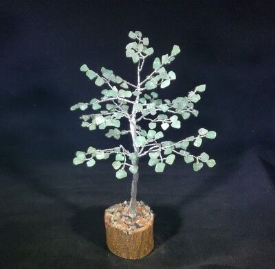 NATURAL GREEN AVENTURINE GEMSTONE CHIP TREE WITH 150 STONES CRYSTAL TREE OF LIFE