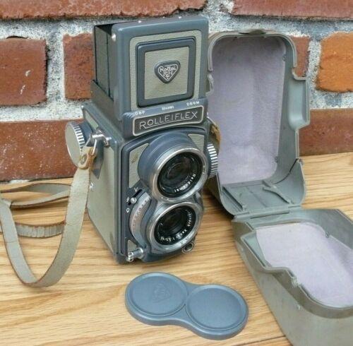 Vintage Grey Baby Rolleiflex 4X4 TLR Camera