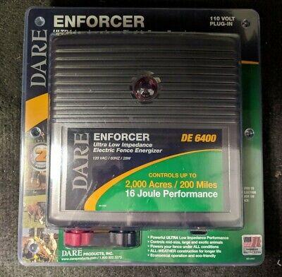 Dare Enforcer 110v Ultra-low Impedance Electric Fence Energizer De6400 Brand New
