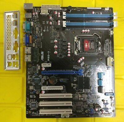 ASUS P9D-V Server Board Rev 1.02 LGA1150 C224 PCIE x16  2x Gbe+ I/O Shield Clean
