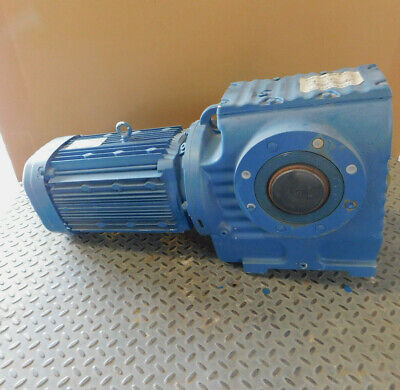 New Sew Eurodrive Helical Worm Gearmotor 10 Hp 14.061 Ratio 230460 Volts New