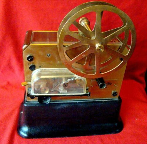 Vintage - Holtzer & Cabot - Brass Punch Register - Boston - Fire Alarm Telegraph