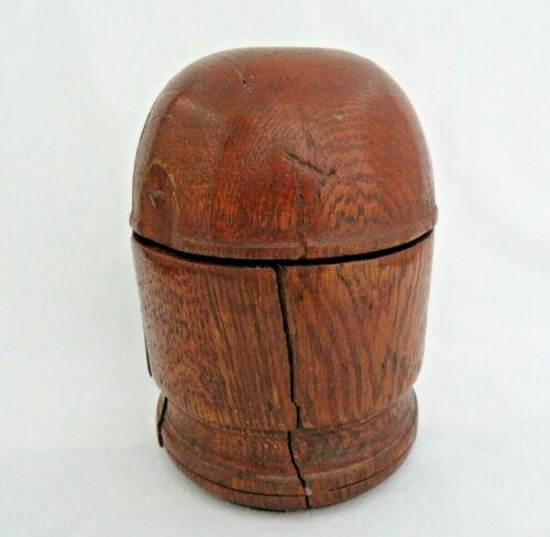 Antique Treenware Oak Dome Top Wood Box