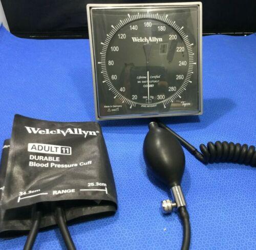 Welch Allyn/Tycos Wall Aneroid Sphygmomanometer Head w Cuff, swivel & coil  G/kp