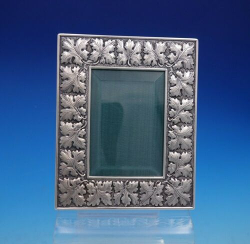 Buccellati Italian Italy Sterling Silver Picture Frame with Leaf Border (#4546)