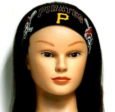 Atlanta Pirates Headband on Black 100%Cotton #84 New Handmade one size fits most (Pirate Headband)