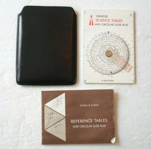 Sama & Etani 600-ST Concise Science Tables & Circular Slide Rule w/ Case Booklet