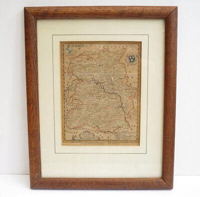 Antique Map Of Shrewsbury 1752 Thomas Kitchin R Baldwin Jnr The London Magazine