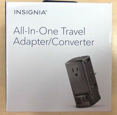 NEW Insignia All-In-One Travel Adapter & Converter - Universal Travel
