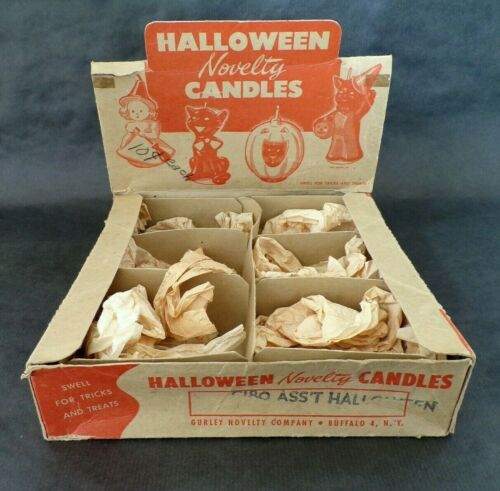 Vintage GURLEY Point of Sale Display HALLOWEEN Candle Container / Box EMPTY