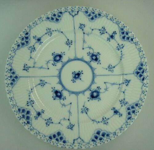 1 ROYAL COPENHAGEN DENMARK BLUE FLUTED FULL LACE SALAD PLATE 1st QUALITY #1086