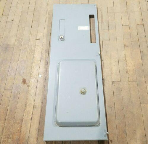 "Square D Model 5 MCC Feeder Motor Control Center Bucket Door Only 47"" Tall Gray"