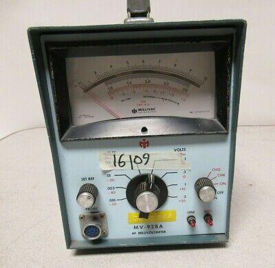 Millivac Instruments Rf Millivoltmeter Mv-928a