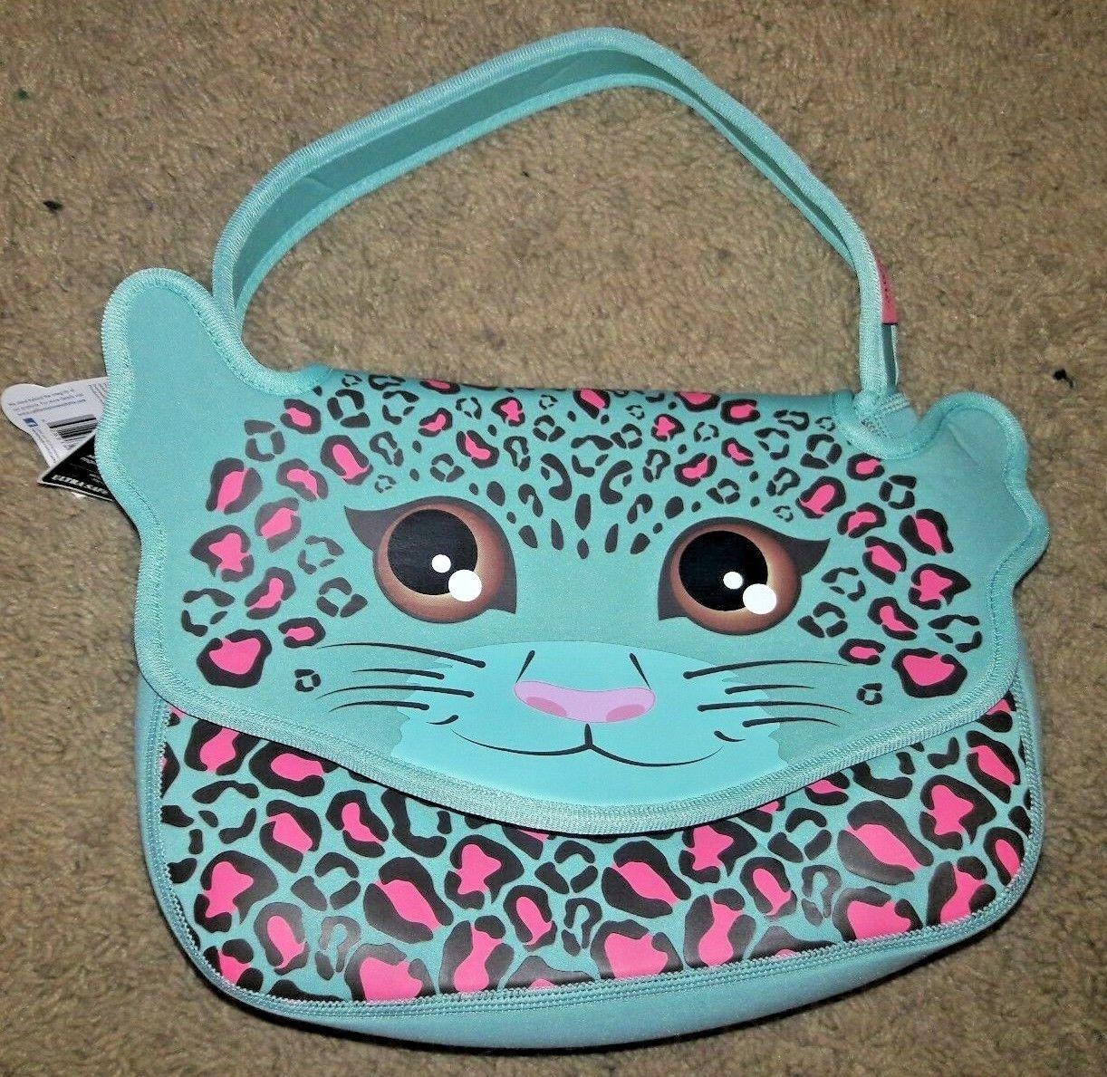 leopard cat lunch box neoprene new nwt